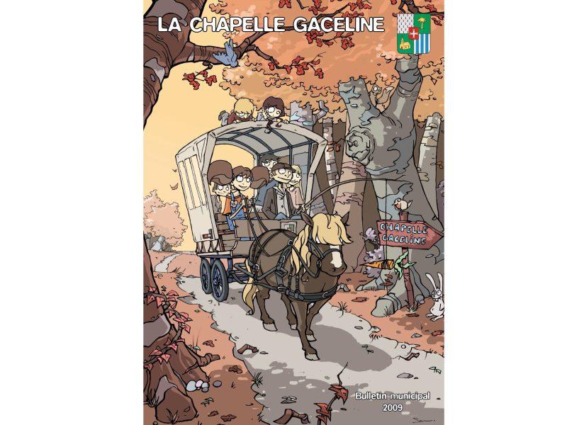 Gaceline et le cheval en couverture du bulletin municipal