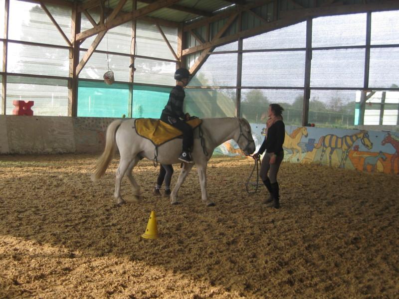 Séance d'équitation adaptée, Centre Rey Leroux
