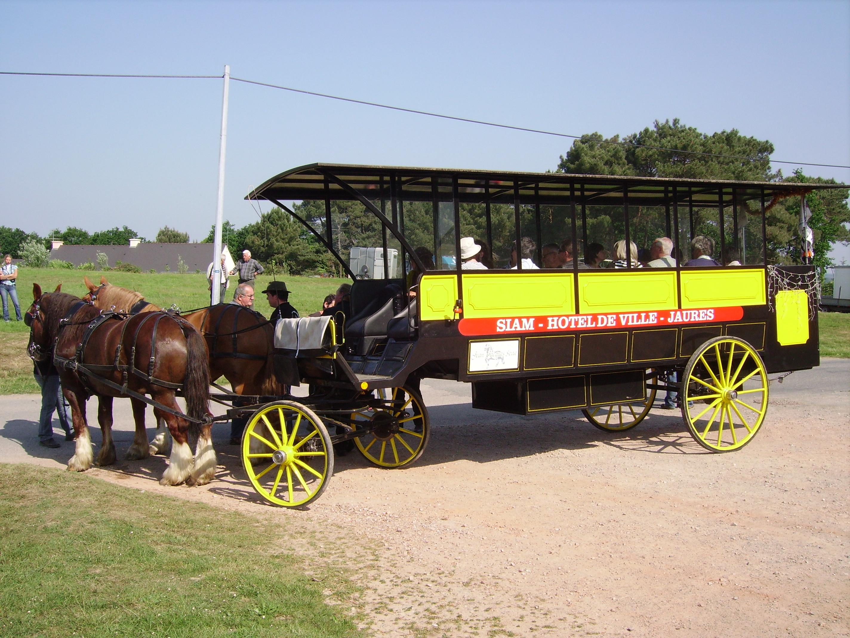 Omnibus utilisé à Brest - Équicité 2010, La Chapelle Gaceline